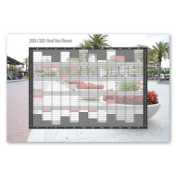 "Thumbnail for Tabular Year Planner, Financial, 36"" x 24"" with 2020/2021 Financial Planner design 1"