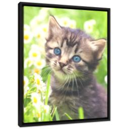 Thumbnail for 16x20 Framed Canvas (Black) with Full Photo design 2